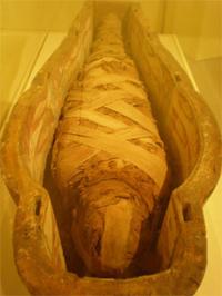 En mumie i kisten sin
