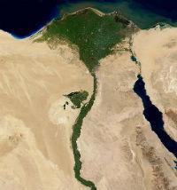 Nilen renner ut i havet